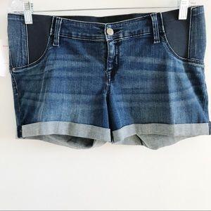 🔻Isabel Maternity Distressed Denim Jean Shorts 8